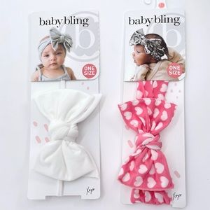 Baby Bling Headbands Valentine's Day Set of 2 NWT